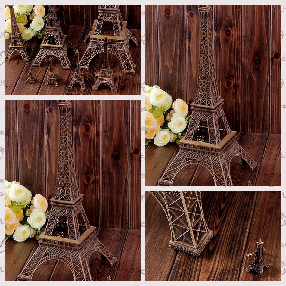 3D باريس برج ايفل سلسلة المفاتيح قلادة معدنية كيرينغ مفتاح تذكارية الإبزيم أزياء الجدة أداة حلية هدية الأناقة الفرنسية 3 الحجم