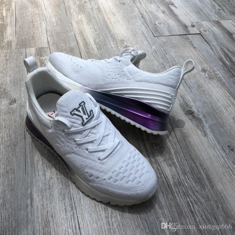 zapatos de los hombres de gama alta de punto casual, cómodo y versátil, zapatos ocasionales de los deportes de los hombres con boxAS