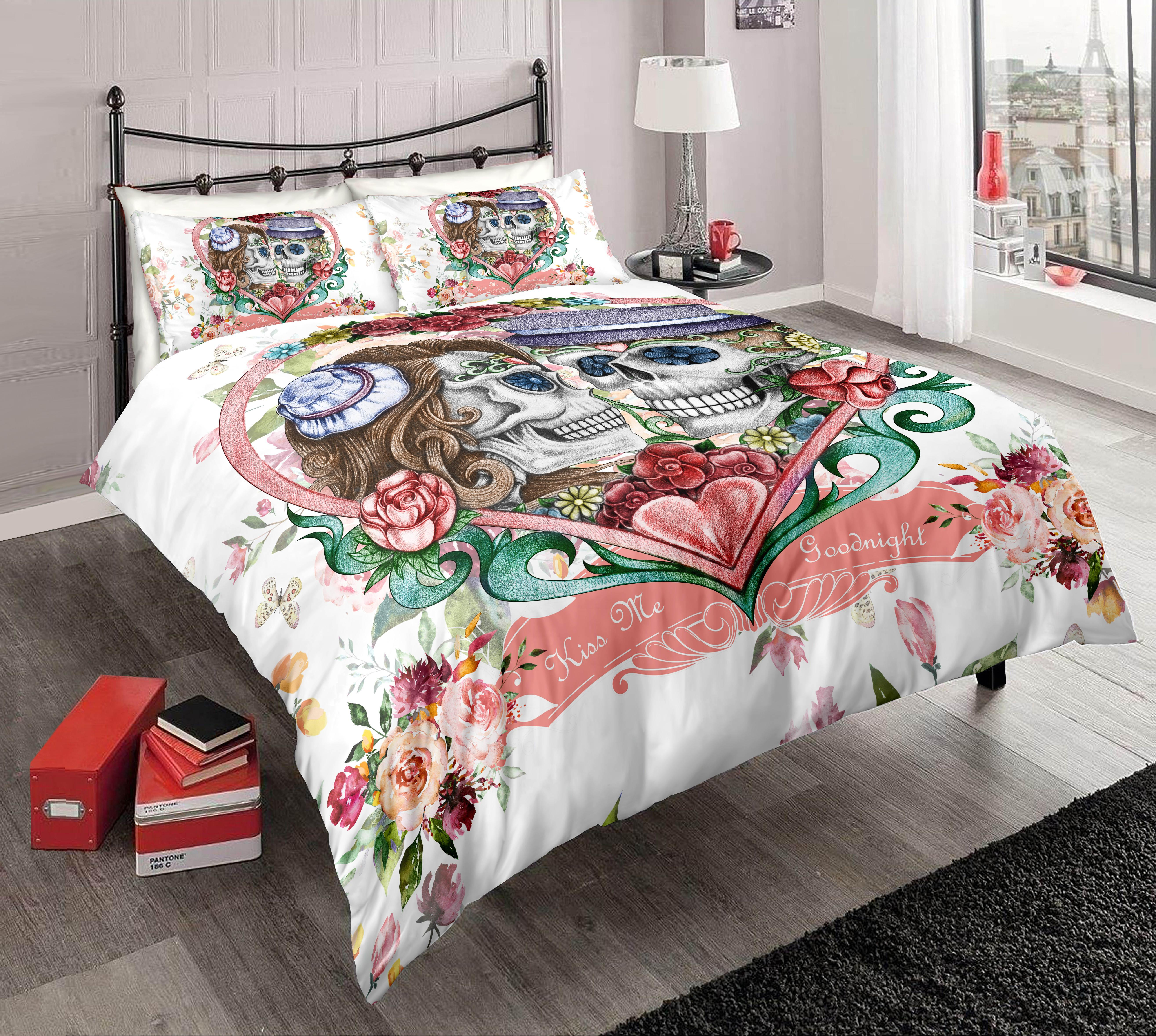 Good Night Kiss Duvet// Quilt Cover Bedding Set With Pillow Case All Size