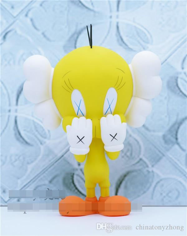 Original Box Tweety Kaws Yellow New Medicom Toy Free Shipping