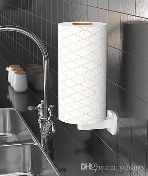 2020 Vertical Paper Towel Rack Free Punching Bathroom Kitchen Roll
