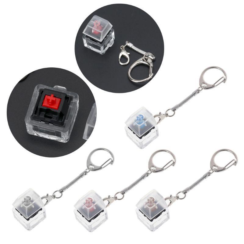 Cabos omputer Escritório Computador Conectores mecânicos Mudar Keychain Para Keyboard Interruptores Tester Kit Sem levou luz Brinquedos ...