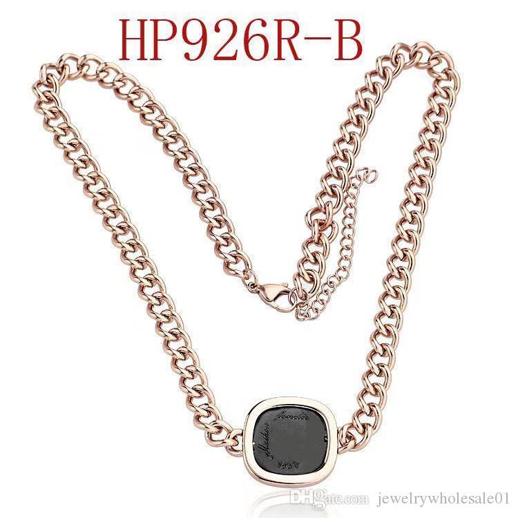 Designer de luxo jóias mulheres colar de alta qualidade marca carta colar de pingente de colar de aço inoxidável jóias cadeia áspera