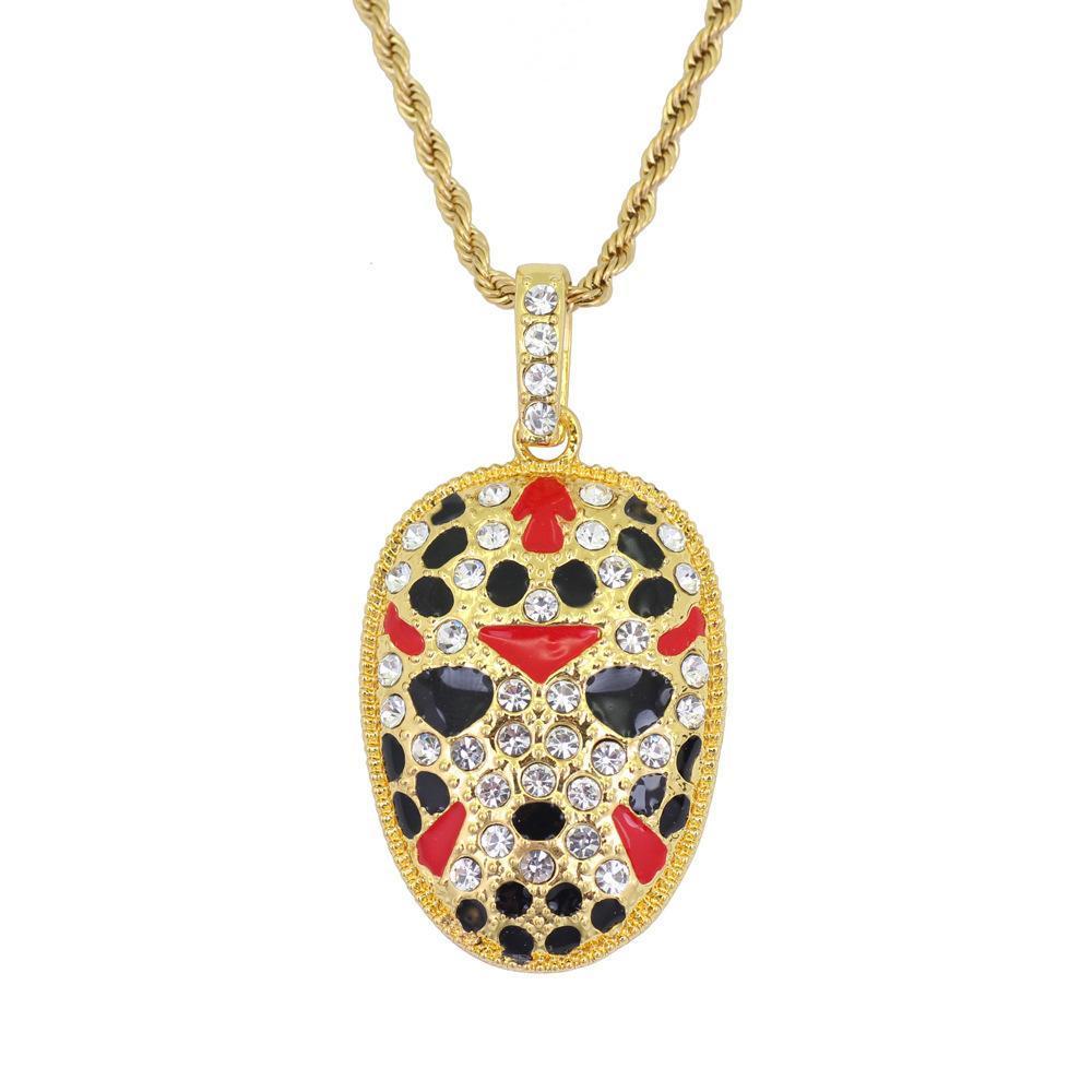 style chinois bijoux rétro Creative Opéra de Pékin Facial Homme Opéra Collier strass Collier avec pendentif