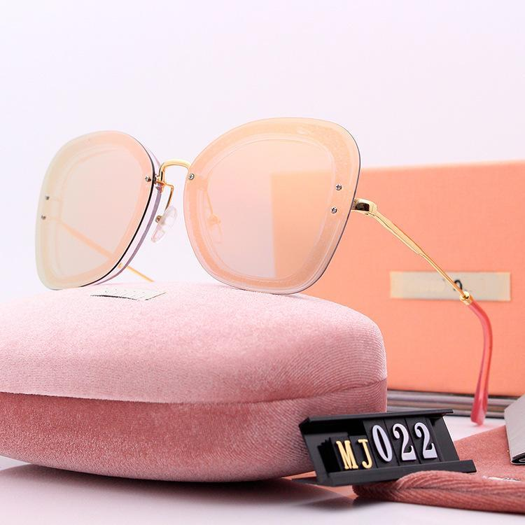 2019 men women polarized sunglasses color film fashion Europe the big cat eyes sun glasses show big box face Designer brand mm suneyewear