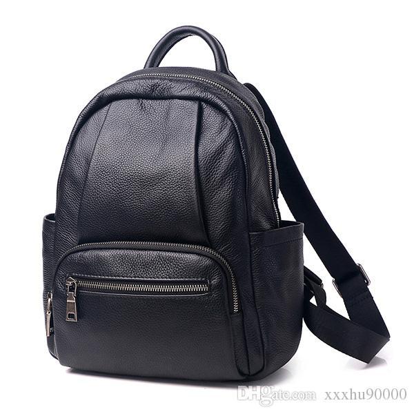 tout nouveau sac d'épaule les femmes en cuir véritable sac à dos célèbre designer en cuir véritable dame 0508