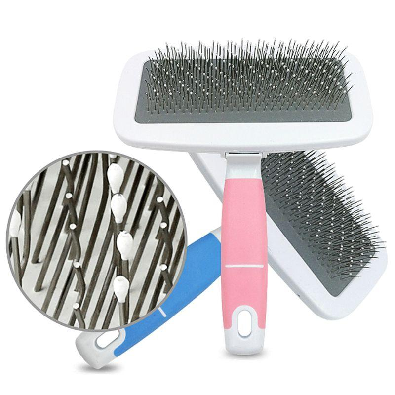 Cheap Combs Handle Shedding Dog Cat Hair Brush Fur Grooming Trimmer Comb Pet Slicker Brush Cheap Pet Products Dog Accessories
