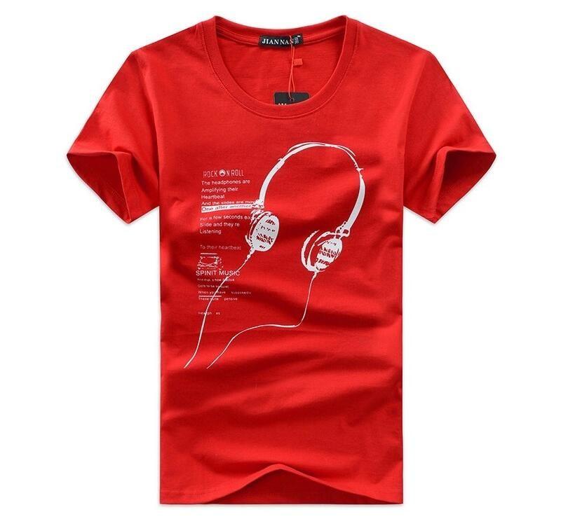 Großhandelsmänner hochwertige T-Shirts, Kurzarm-Baumwoll-T-Shirts, Herren-O-Ansatz T-Shirts reine Farbenhemd für Mann T011