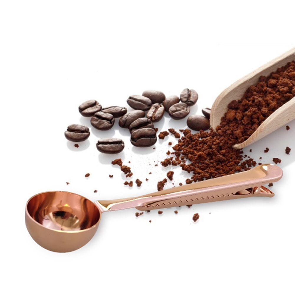 Helado de café instantáneo de la cucharada de la categoría alimenticia de bebidas de cocina Herramientas Función Multi té de especias con la proteína Clip polvo de acero inoxidable