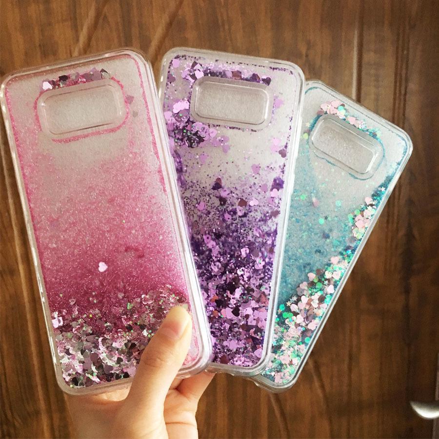 Liquid Phone Cases Sfor Coque Samsung S8 S9 Case For Samsung ...