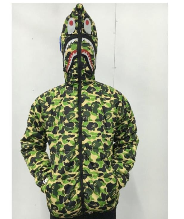 XMzc gros coton Veste d'hiver camouflage d'impression capuche manches longues Pull pour hommes Veste à capuche Casual Taille M L XL XX 3XL