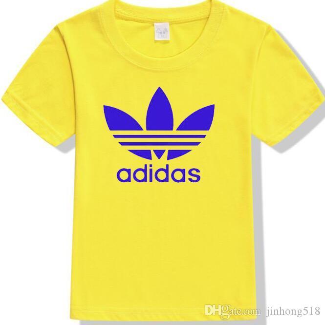 Ragazzi e ragazze t-shirt a maniche corte estate 2020 nuova lettera modello mezza manica per bambini stampa ragazzone marea A04 cotone