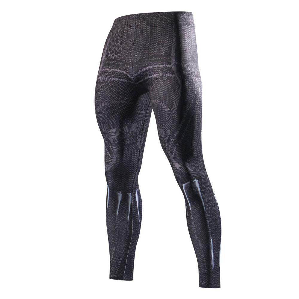 The latest autumn sports trousers marvel men's bodysuit 3D printed compression fashionable men's trousers