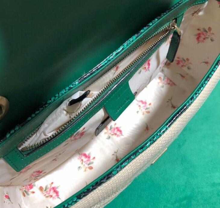 Frauen 5A Marmont Bag, 443497 Exklusive 22cm, 476433 Schulter Staubbeutel Rafia 16.5cm, komm 26cm, 446744 Kostenlos mit Box DHL Online-versand HVBKT
