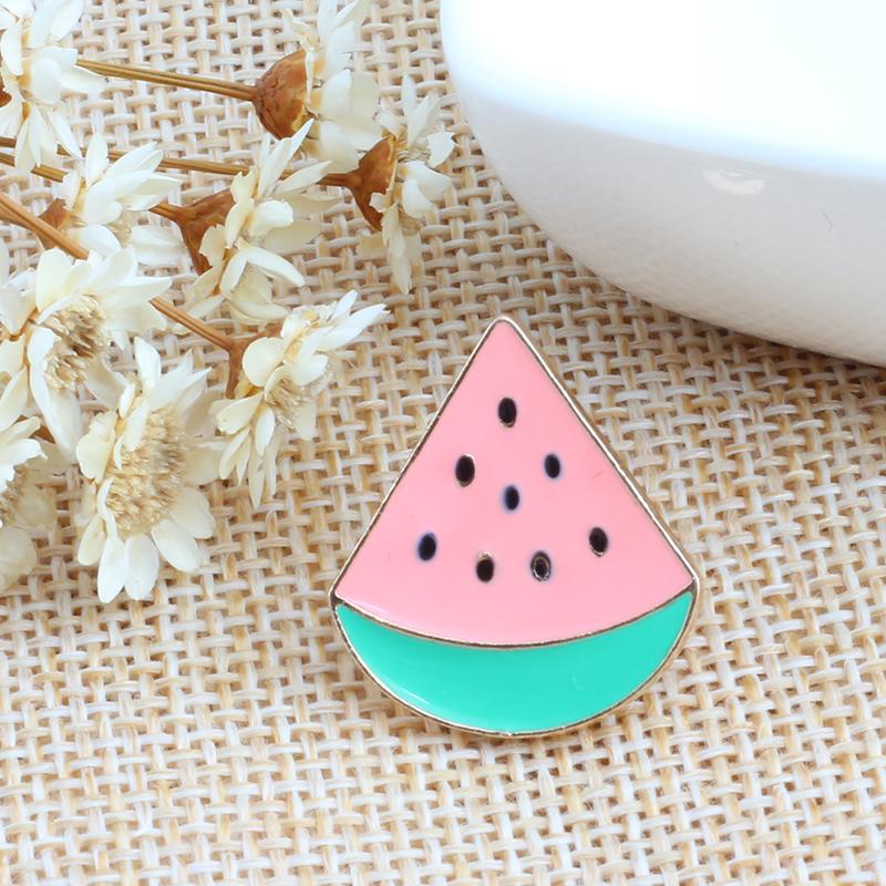 12 Style Fruit Vintage Brooch Watermelon Strawberry Enamel Pin Badge Cherry Brooches For Women Jewelry Men Accessories Pins Gift