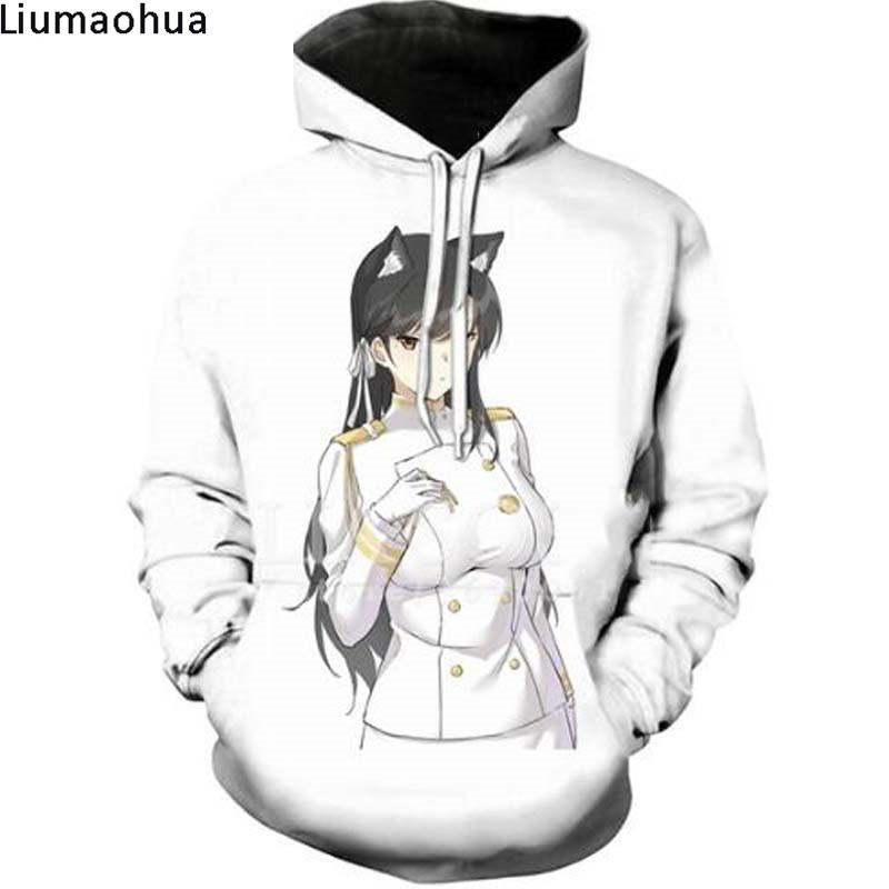 Liumaohua White wild 3D hoodie winter men's sweatshirt print unisex anime fashion Harajuku casual adult cool quality shirt