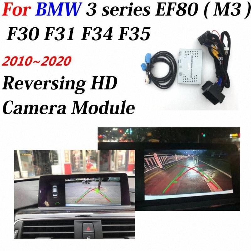Cámara frontal trasero para Serie 3 F80 (M3) F30 F31 F35 F34 2010 ~ 2020 Interfaz de pantalla original mejorar el estacionamiento decodificador coche L8dv #