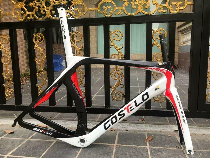 Costelo lucca rb1000 carbon road bike frameset costole bicycle bicicleta frame Full T1000 carbon fiber bicycle frame bb30
