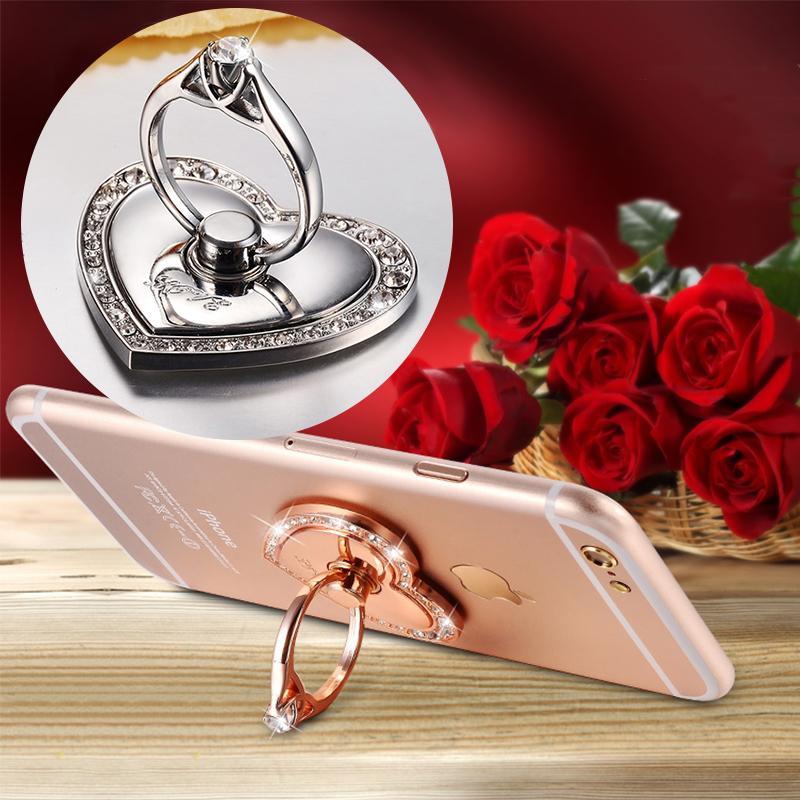 Téléphone portable doigt Porte anneau Grip 360 degrés Rotatif Amour Smartphone mignon amour CuteHolder Socket Support téléphone portable support en métal