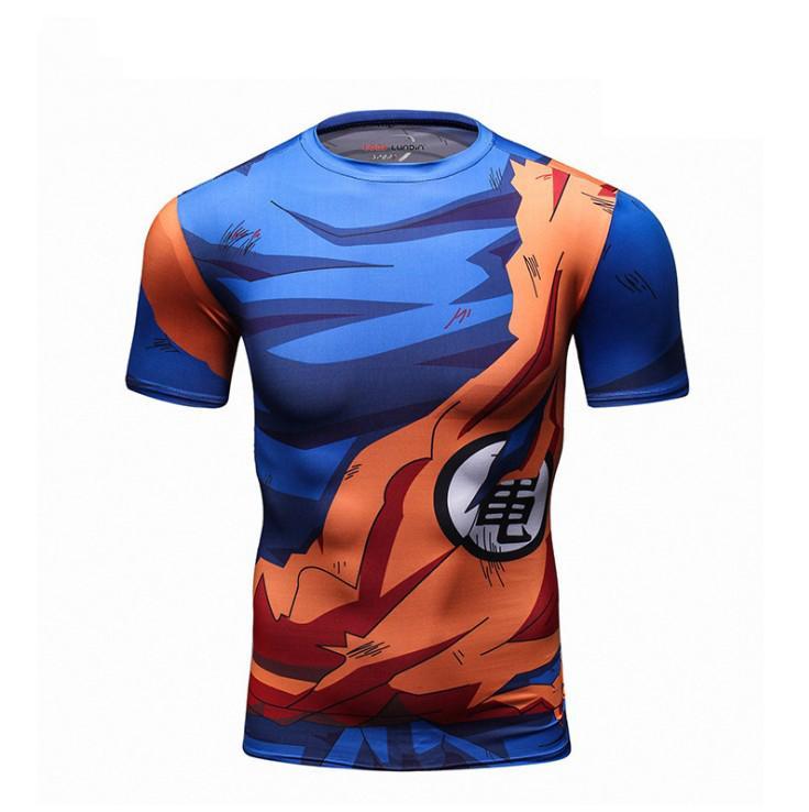 Dragon Ball-T-Shirt Mann-Sommer-Dragon Ball Z Super Goku Slim Fit Cosplay 3D T-Shirts Anime Vegeta Dragon Ball-T-Shirt Homme