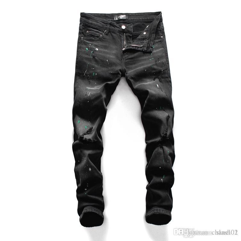2020 2020 Nuova italiana di lusso Hip Jeans Moto Hole hop stile pantaloni stretti dei jeans di svago cerniera a caldo degli uomini di vendita del progettista di marca Jean