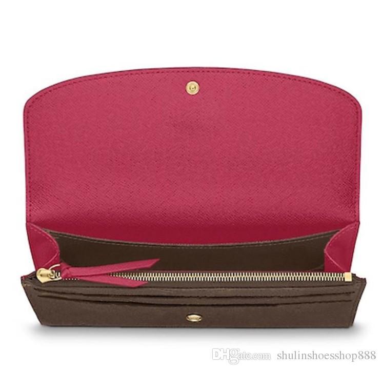 Designer Brieftasche Frauen Brieftasche Reißverschlusstasche weibliche Designer-Mappen-Mode-Kartenhalter-Taschen-lange Frauen-Tasche mit Box