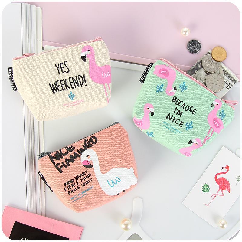 1 Pièce Cartoon Mode Mignon Oiseaux Flamingo filles Style frais Ecouteur ligne de données des pièces de bijoux bonbons sac de rangement