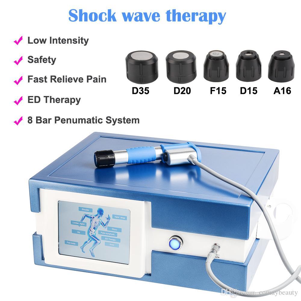 paso 8bar por la terapia de ondas de choque a 0,5 bares de ondas de choque para la disfunción eréctil alivio articulaciones dolor macho