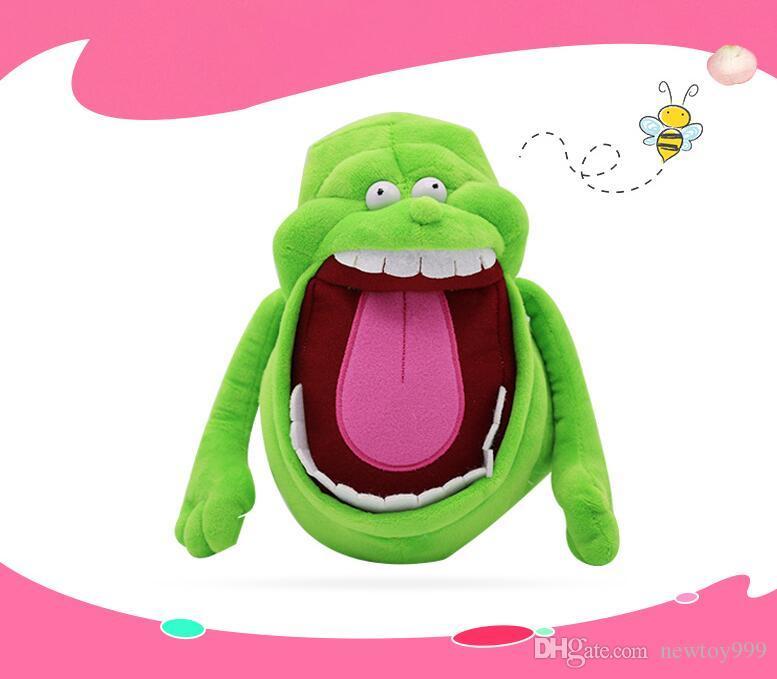 YENİ 17.5cm Hayalet Avcıları Peluş Bebek Toys 18cm Karikatür Yeşil Hayalet Dolması Doll Çocuk Doğum Bayram Hediye Oyuncak L011730