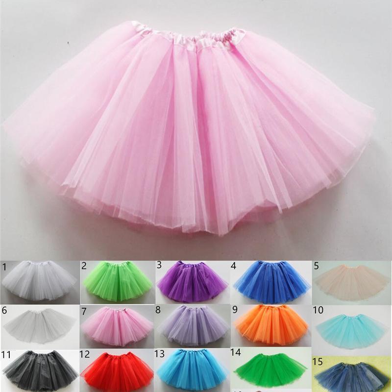 Crianças Verão Criança Boutique plissadas Mini Saias meninas saia tutu vestido de festa do traje A-Line Ballet Vestidos Roupa 19 cores New A42504