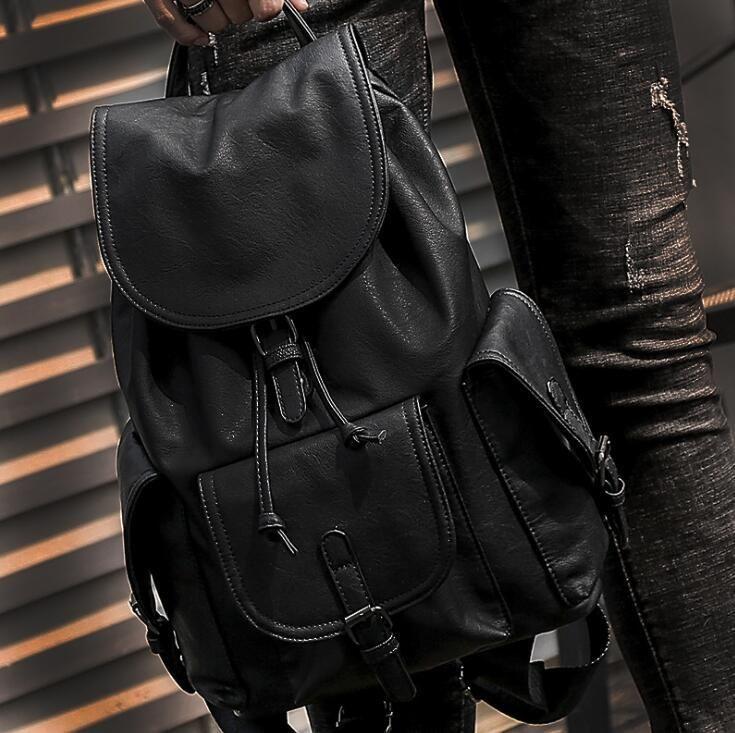 Factory wholesale men handbag new multi-pocket fashion backpack comfortable soft leather student bag portable outdoor travel backpack