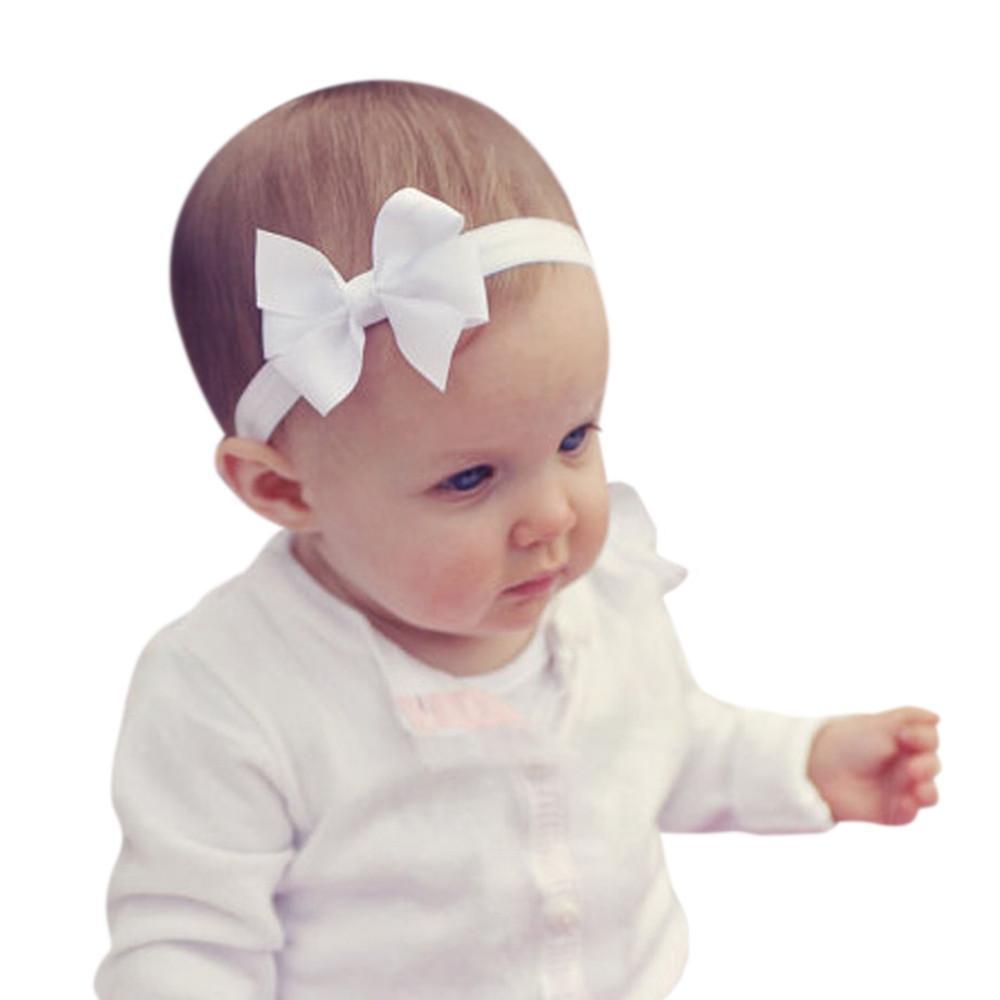 3Pcs Kind-elastisches Blumenstirnband-Haar Mädchen Baby Bowknot Hairband Set