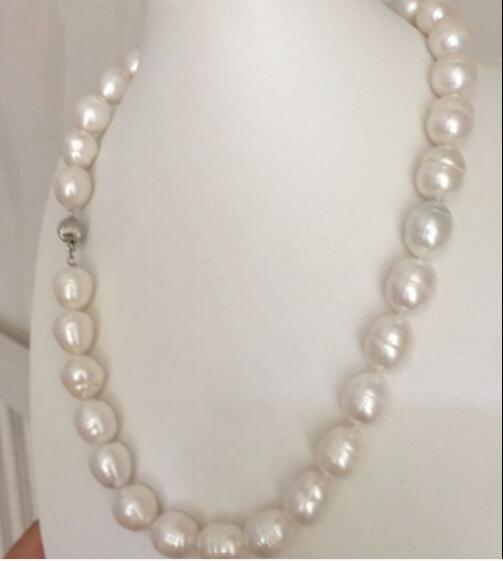 9 mm 10 mm 12 mm blanc perle ovale eau douce baroque Collier Femme Bijoux choker