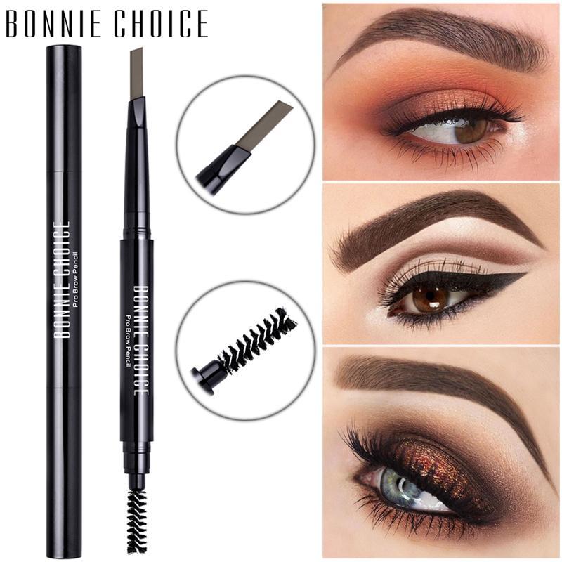 BONNIE ESCOLHA Desenho Eye Brow Longa Duração impermeável automática lápis de sobrancelha com escova Cosméticos