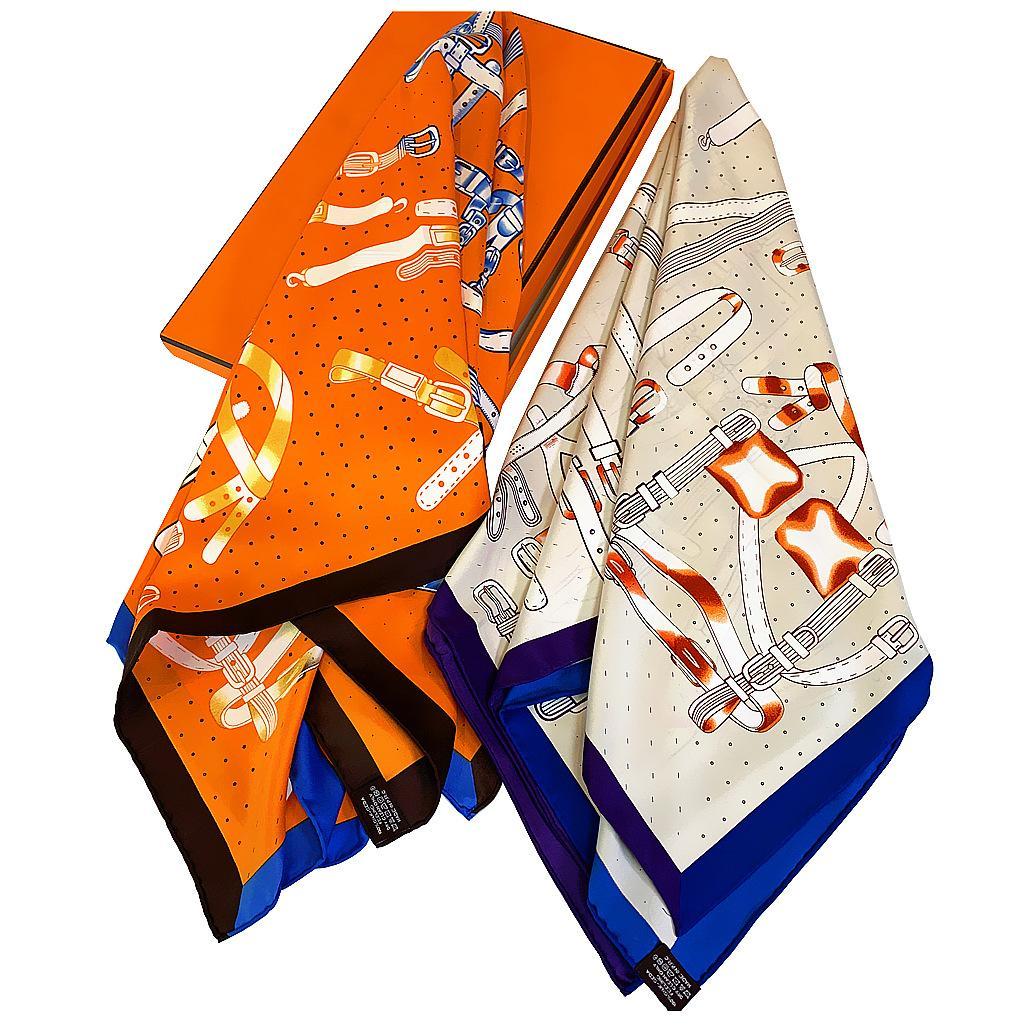 Hand gerollt Silk Kettengürtel-Druck-Schal für Frauen handgemachtes Retro- Frauen-Halstuch 90 90 Satin-Schal-Schal Luxurious