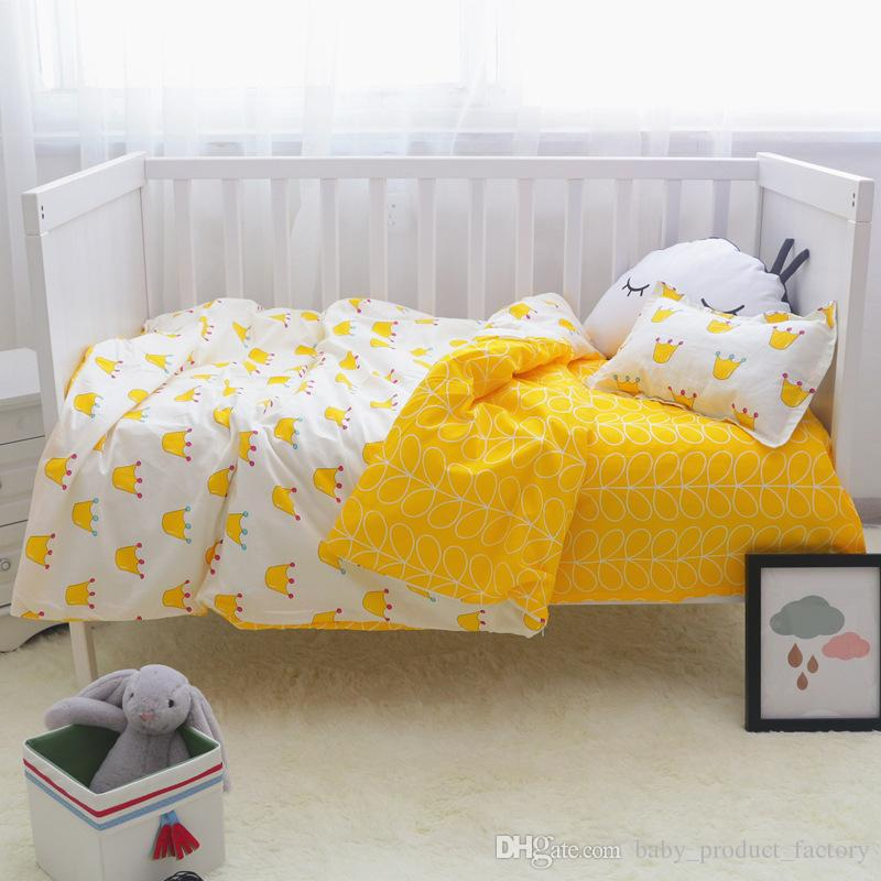 Promotion Cartoon Baby Bedroom Newborn Baby Crib Bedding Set For