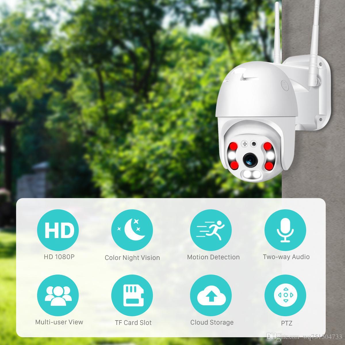 4G 1080P 야외 스피드 돔 와이파이 카메라 IP 2MP H.26 오디오 PTZ 무선 카메라 아이 클라우드 SD 슬롯 ONVIF 감시 IP 카메라