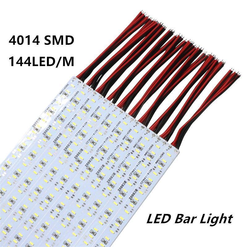 SMD 4014 LED Strip 100 centimetri LED barra rigida LED SMD 4014 rigida striscia della luce di 144 LED bianchi / bianco caldo