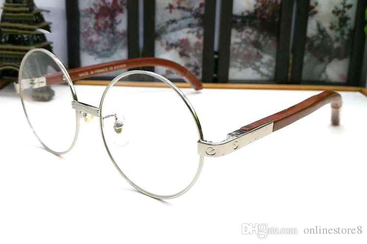 5d9b721ffdf ... Fashion Wooden Earstems Glasses Round Frames Men Women Reading Glasses  Frames Eyeglasses White Buffalo Horn Glasses