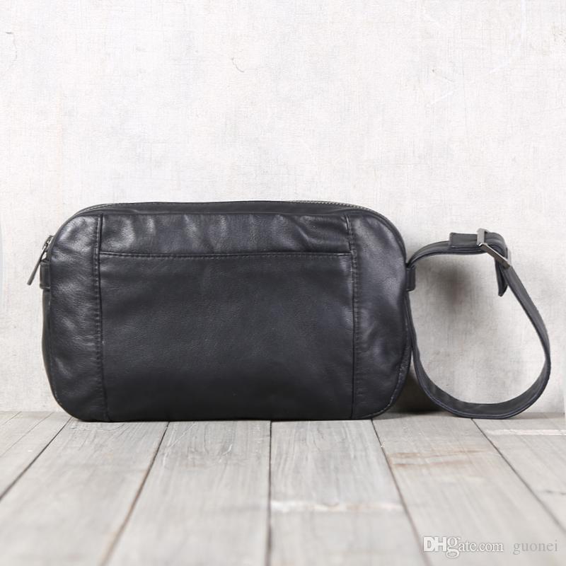 artesanais bolsas de couro de couro dos homens Designer-BJYL ombro único mão cruz oblíqua transportando Baotou camada de saco de couro ocasional