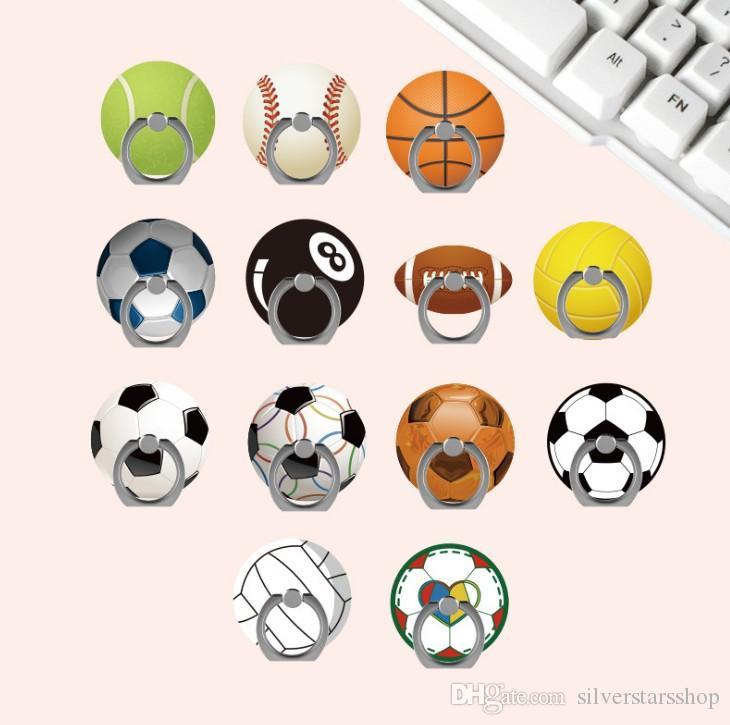 العالمي المعادن حامل البنصر الهاتف المحمول حامل الدعم كرة القدم النسائية شخصية لكرة السلة