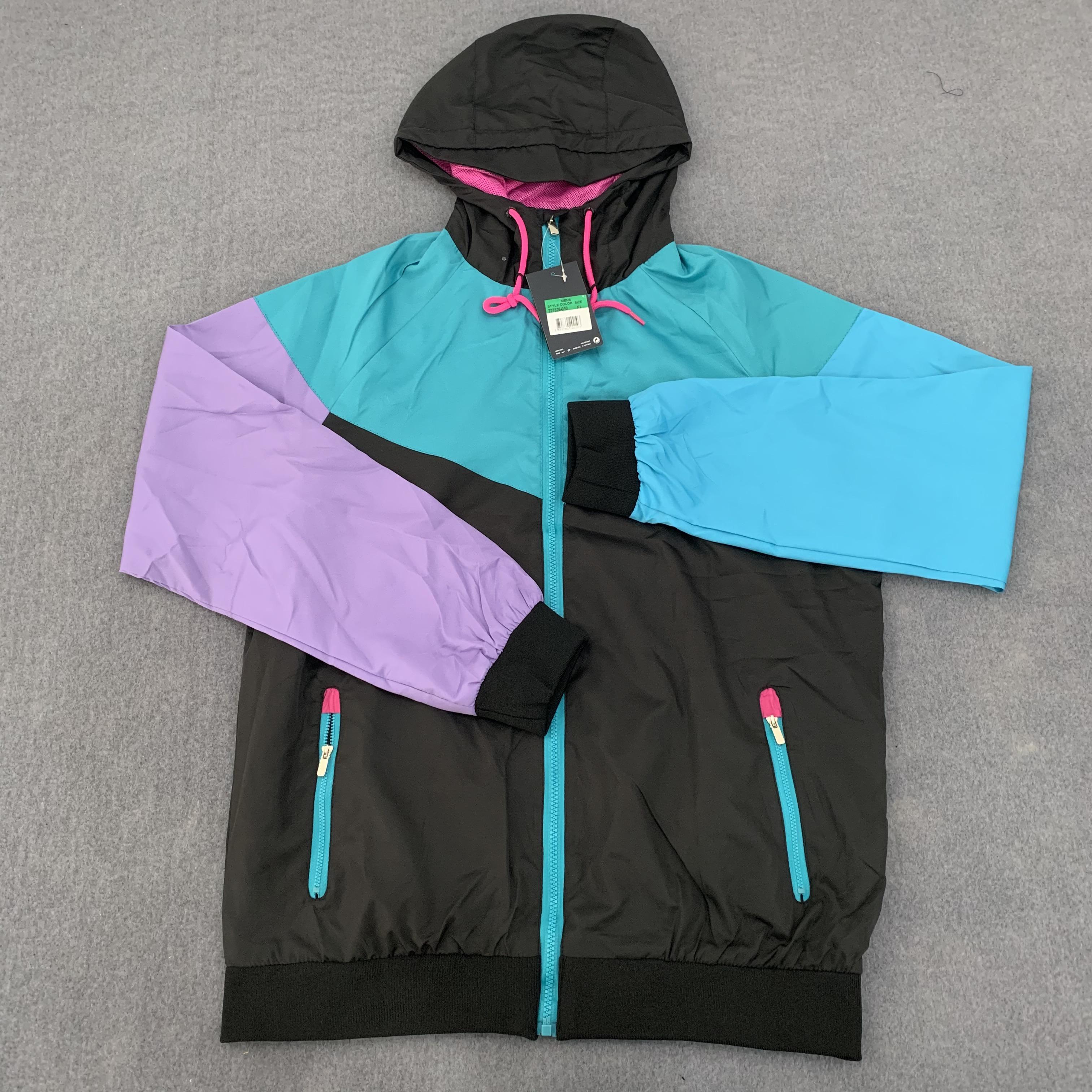 Designer Mens Jackets Sport Marca Windbreaker di contrasto della rappezzatura Coats Stampa Zipper Felpe Esecuzione Outwear superiore all'ingrosso B103615V