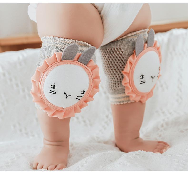 1 Paar Babyknieauflage Kinder Sicherheit kriechen Ellbogenpolster Säuglingskleinkinder Baby Beinwärmer Kniestütze Schutz Baby Kniescheibe