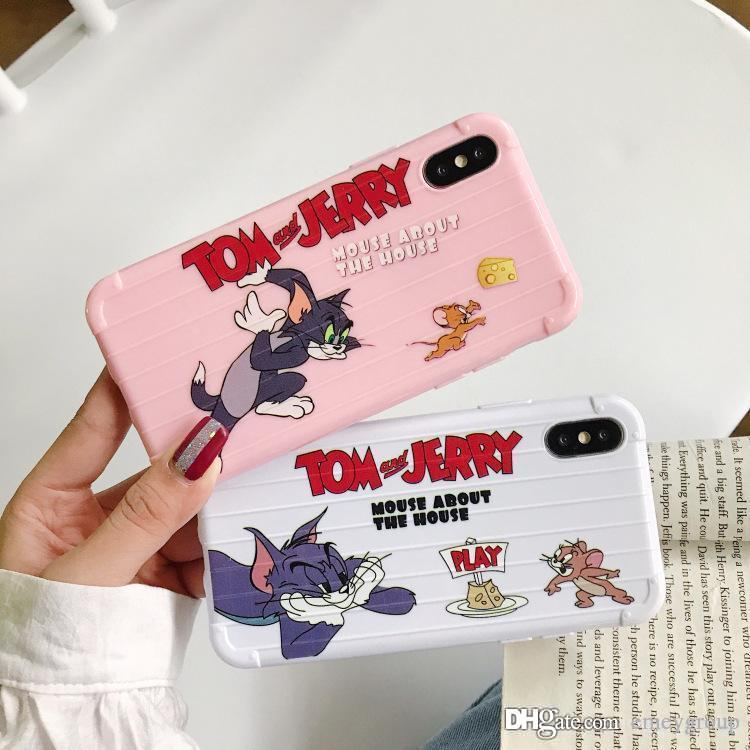Luxury Designer Cartoon Funny Case for iPhone 7 8 6 6S Plus Soft TPU Matte Color Cover For iphone 11 Pro XS Max XR X Coque Pattern