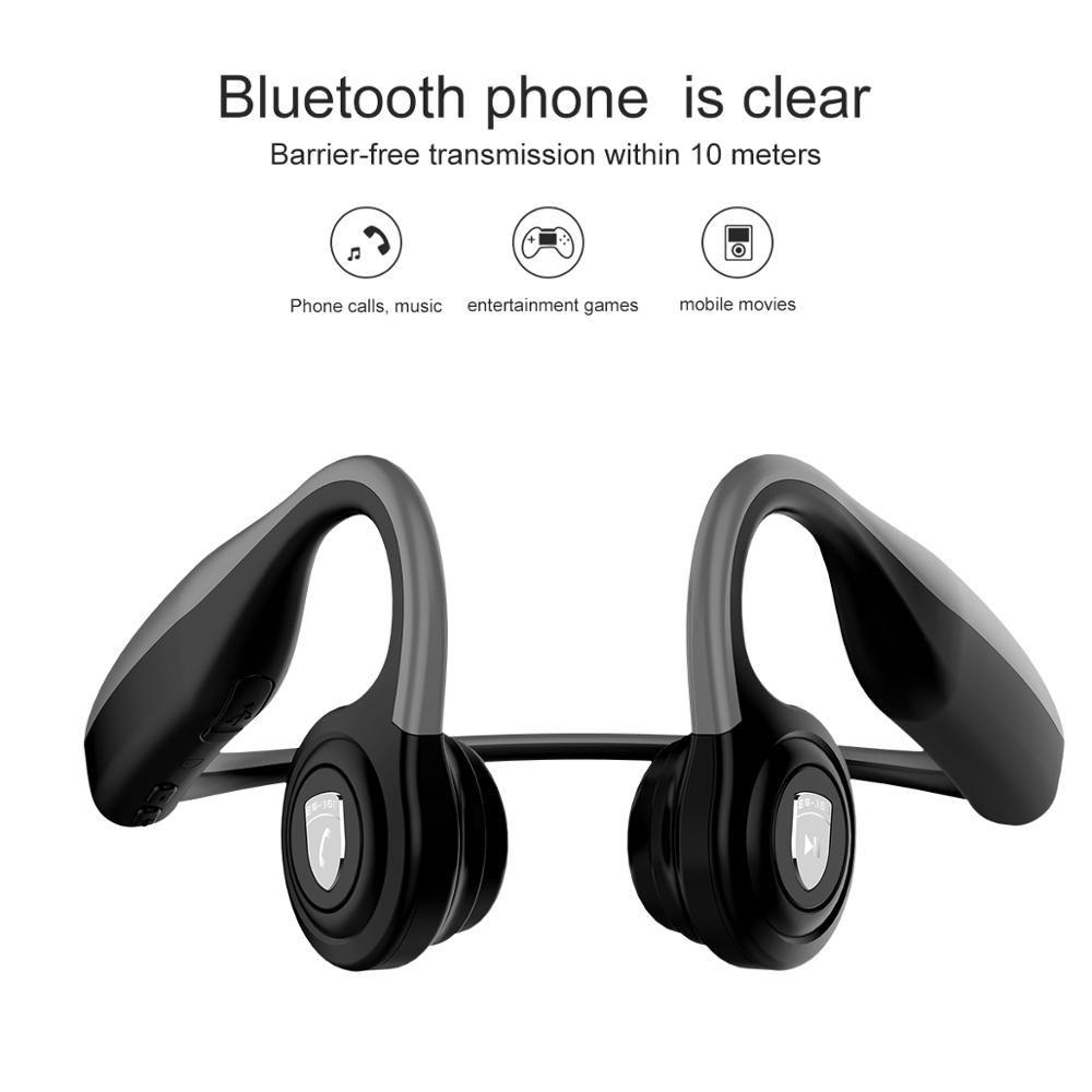 amazon top sell wireless Bone Conduction Headsets sport earphones Air Wireless Waterproof BT Earphones Bone Conduction Headphones with Mic