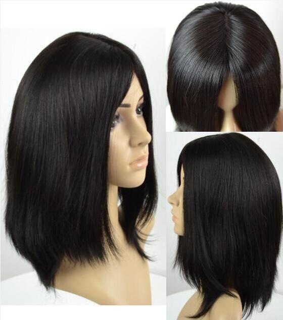Кошерные парики 10Ы класс Light Black Color # 1b Finest Бразильского Девы Remy человеческих волос прямого 4x4 шелковой база иудейской парик Fast Free Shipping