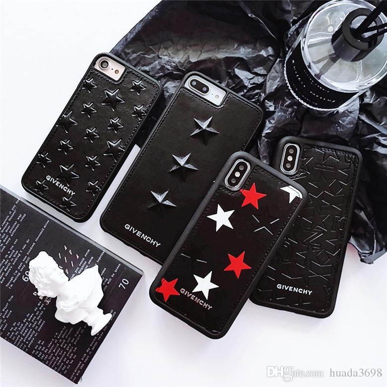 Top qualité brodé embosser en cuir Slim ultra-mince PC Phone pour iPhone XS Max XR X 6S 7 8 Plus Tide de luxe