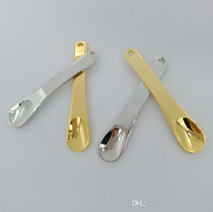 Цинковый сплав золота Ложка специй порошок лопата Dabber Dab Портативный Scoop инновационный дизайн для Snuff Sniffer нечто сногсшибательное курительная трубка Инструмент Vape масло