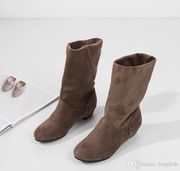 Großhandel kness Boots wärmen Stiefel Wildleder Frauen Schnee Stiefel lässig Martin Stiefel Großhandel Mode Freizeitschuhe