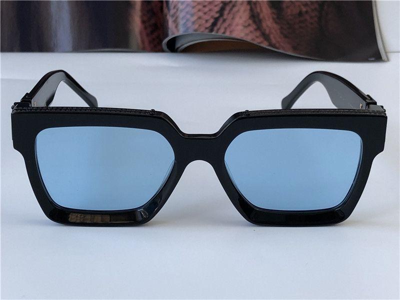 남자 디자인 선글라스 백만장 사각형 프레임 최고 품질의 야외 아방가르드 도매 안경 케이스 96006